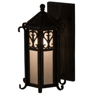 Meyda Tiffany Greenbriar Oak 1-Light Outdoor Sconce