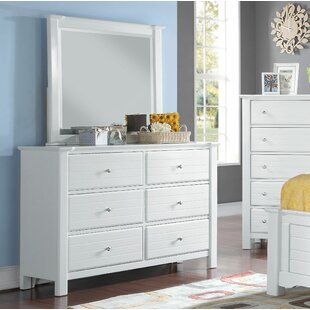 Compare Chicago 6 Drawer Double Dresser with Mirror by Harriet Bee Reviews (2019) & Buyer's Guide
