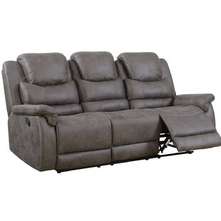 Shop Mahtomedi Upholstered Metal Reclining Sofa by Red Barrel Studio