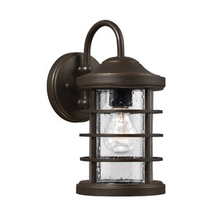 Price Check Newcastle 1-Light Outdoor Barn Light By Breakwater Bay