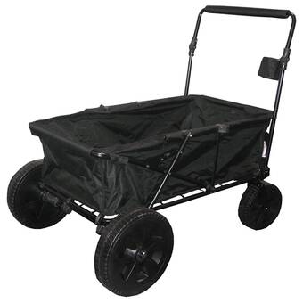 noir Mac Sports Pliant Robuste Tout Terrain Utility Wagon à table