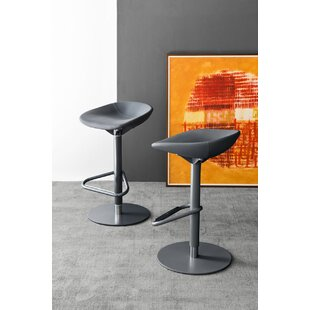 Palm Adjustable Height Swivel Bar Stool Calligaris