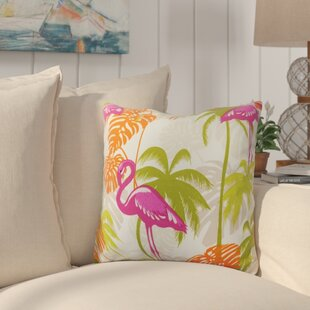 Gerani Flamingo Jungle Outdoor Throw Pillow