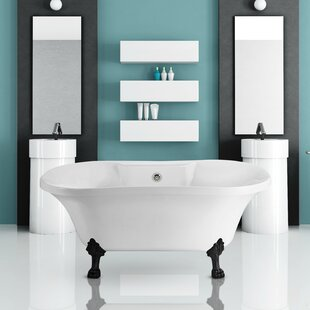Affordable 60 x 32 Freestanding Soaking Bathtub ByWildon Home ®