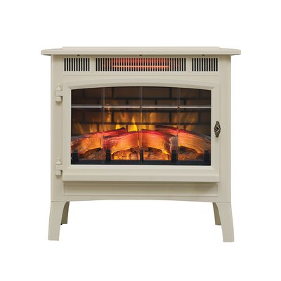 3D Flame Effect Infrared Quartz Electric Stove Duraflame Electric Finish: Cream