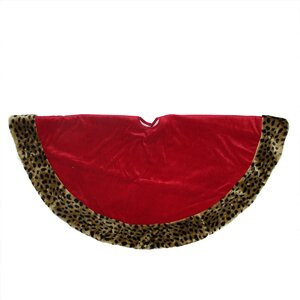 Diva Safari Velveteen Plush Cheetah Print Christmas Tree Skirt