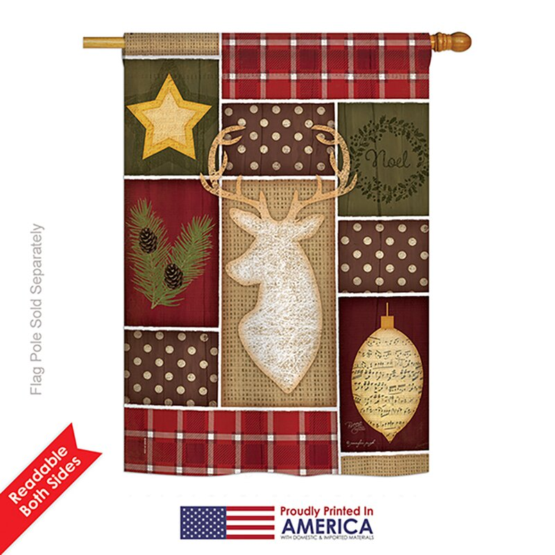 Breeze Decor Christmas 2 Sided Polyester 40 X 28 In House Flag Wayfair