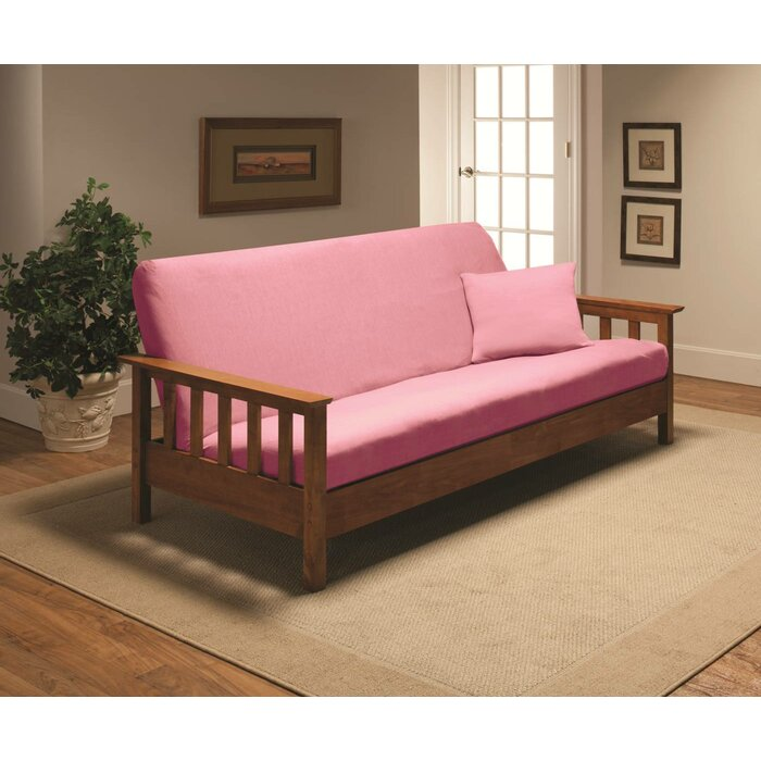 Brilliant Patterned Box Cushion Futon Slipcover Gmtry Best Dining Table And Chair Ideas Images Gmtryco