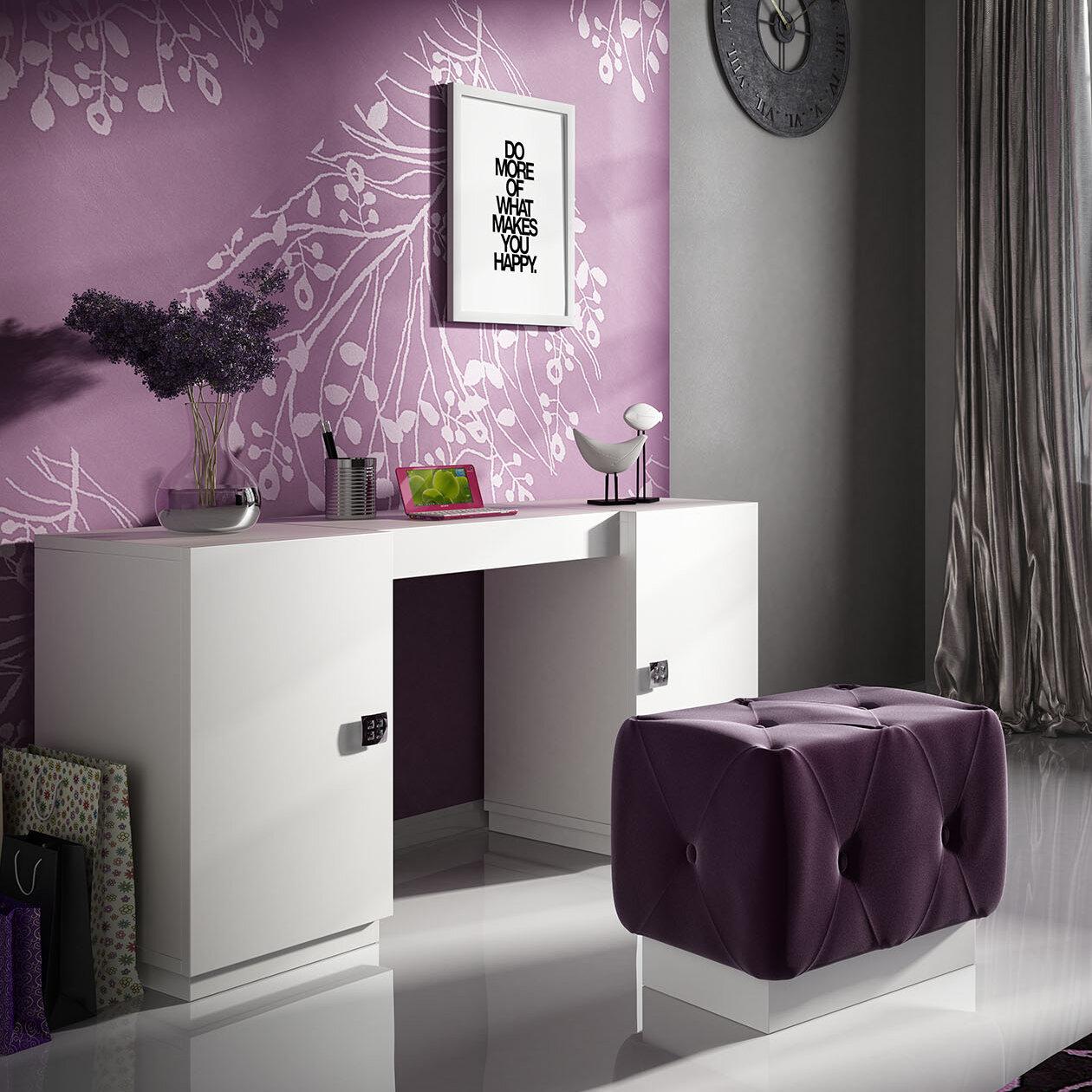 Everly Quinn Kirkwood Bedroom Makeup Vanity Set Wayfair
