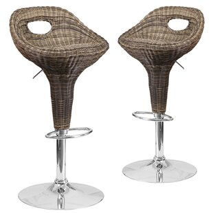 Jackeline Adjustable Height Swivel Bar Stool (Set of 2)