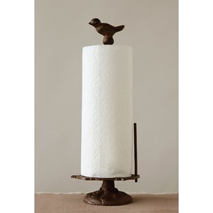 Cast Iron Bird Free-Standing Paper Towel Holder