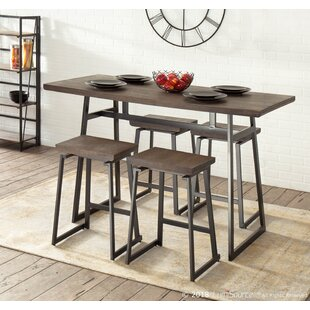 Prange 5 Piece Counter Height Dining Set