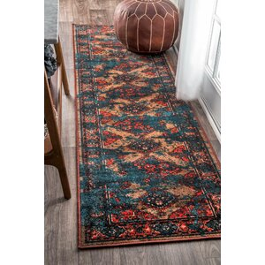 Walls Blue/Red Area Rug