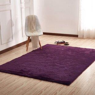 dark purple rug bedroom makenna handtufted dark purple area rug rugs wayfair