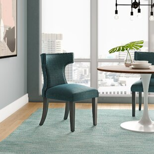 Fant Curve Upholstered Dining Chair by Wrought Studio Salet