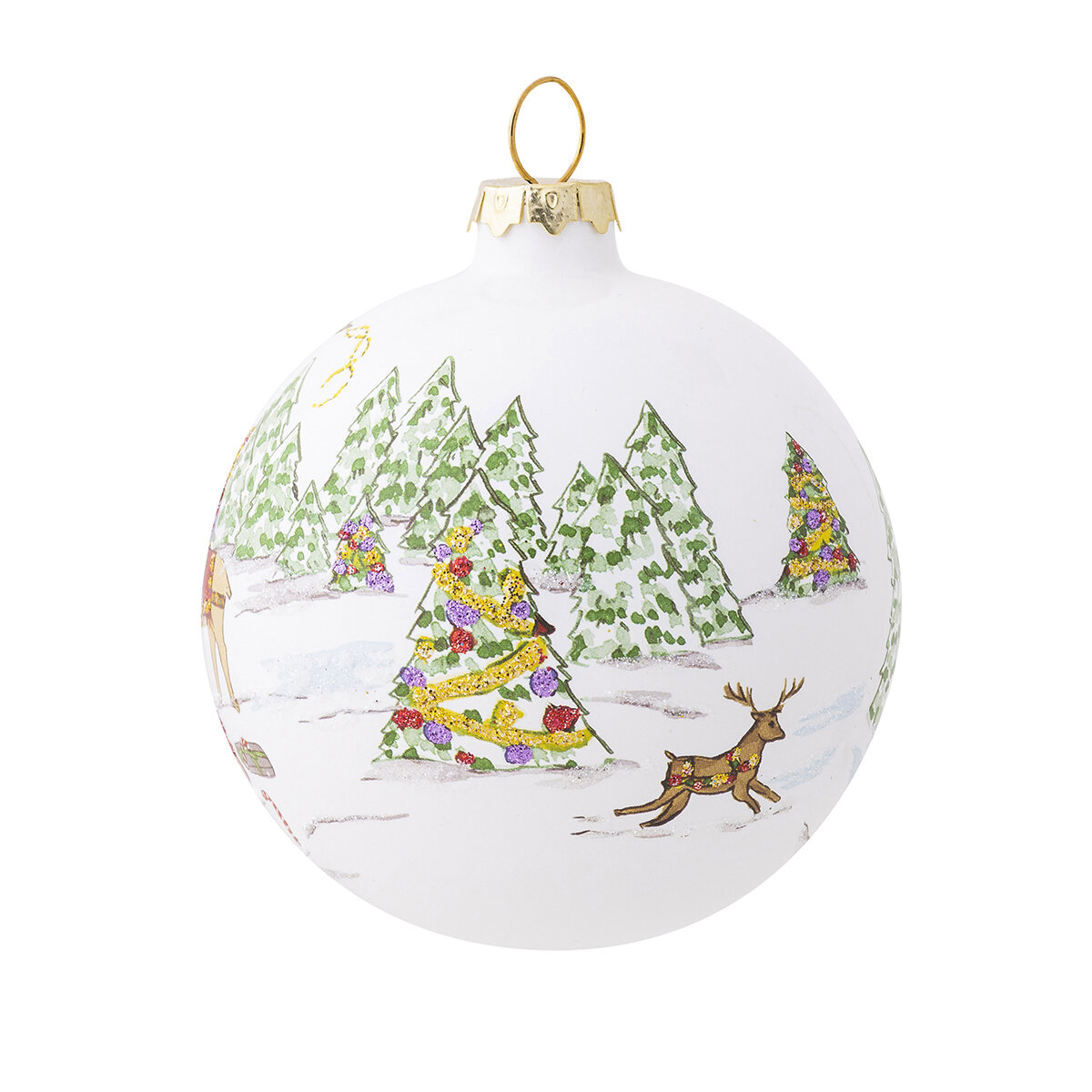Juliska North Pole Reindeer Glass Ball Ornament Wayfair