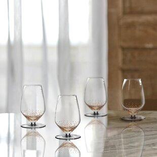Luster Sauvignon 15 oz. Glass Goblet (Set of 4)