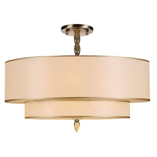 Winston Porter Stauffer 5-Light Semi Flush Mount