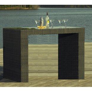 South Hampton Outdoor Wicker Bar Table by ElanaMar Designs Sale