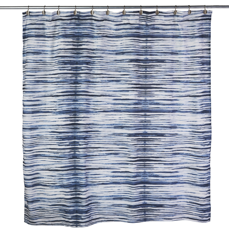 Bathroom Waterproof Fabric Shower Curtain Set Black Dot White /& Blue Stripe Dogs