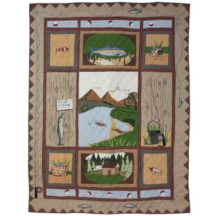 Millwood Pines Raven Gone Fishing Luxury Quilt