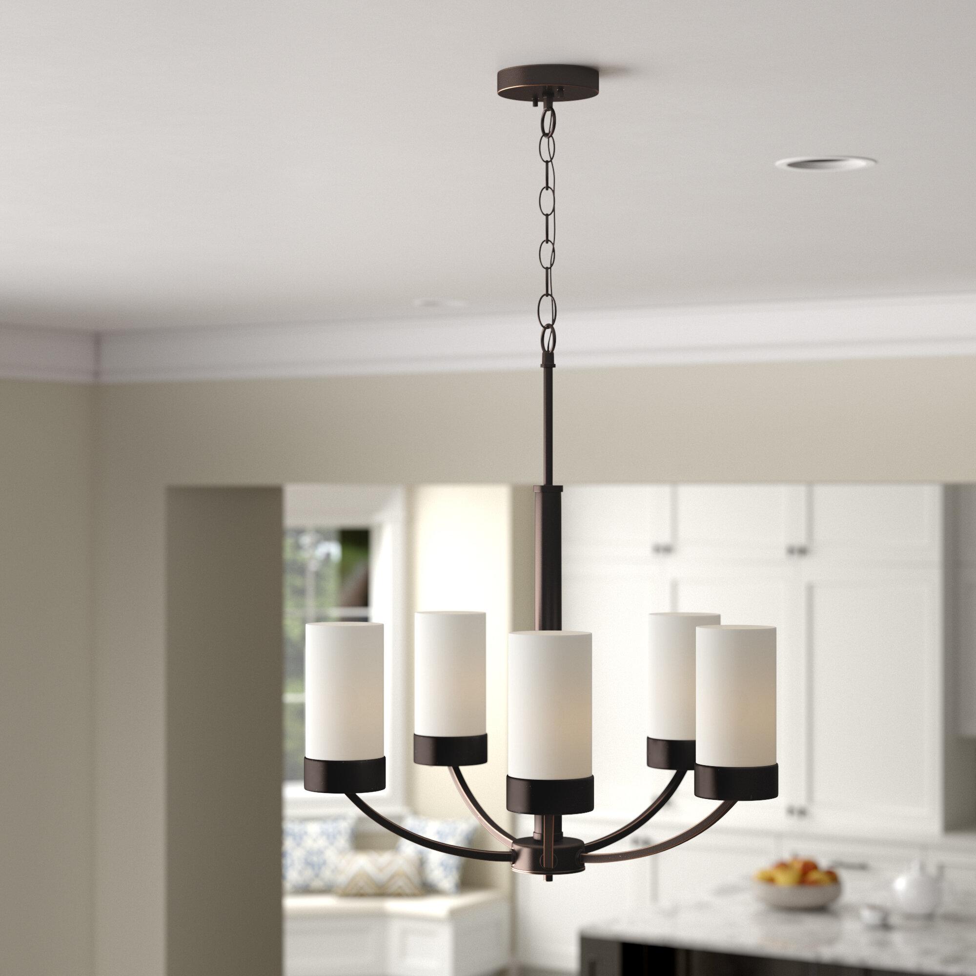 Andover mills sanderson 5 light shaded chandelier reviews wayfair