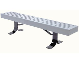 Slatted In Ground Steel Picnic Bench