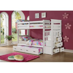 Glane Wooden Twin over Twin Bunk Bed with Trundle