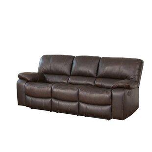 Husebye Leather Reclining Sofa