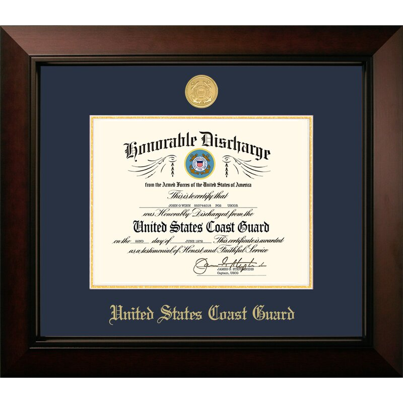 Patf Coast Guard Discharge Legacy Picture Frame Wayfair