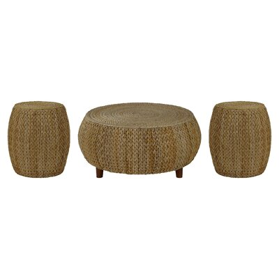 Beachcrest Home Nobles 3 Piece Coffee Table Set  Color: Natural