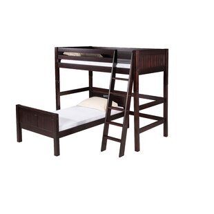 Oakwood Twin over Twin L-Shaped Bunk Bed