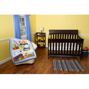 Under Construction 3 Piece Crib Bedding Set