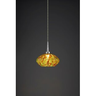 Stainforth 1-Light Globe Pendant by World Menagerie