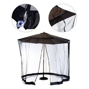 Tousignant Outdoor Patio Umbrella Table Screen Mosquito Bug Netting