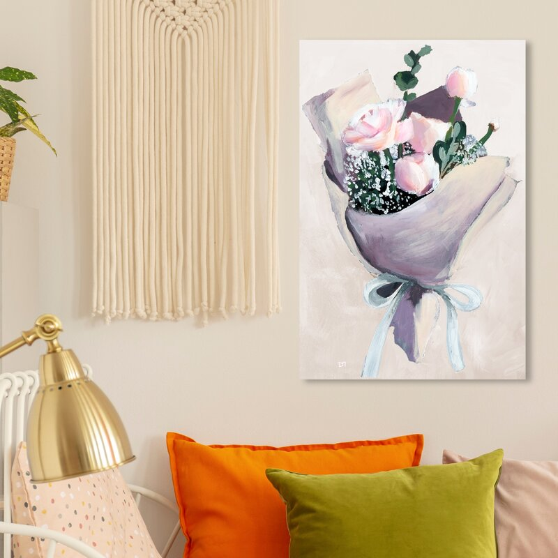 East Urban Home Precious Finds Simple Painting On Wrapped Canvas