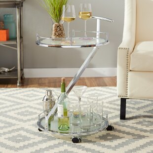 Orren Ellis Cher Loft Metal Bar Cart