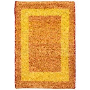Rocket Hand Hooked Wool Orange Indoor/Outdoor Rug By Ebern Designs