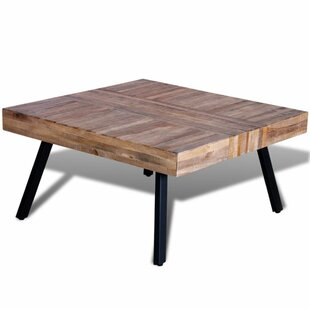 Ebro Reclaimed Teak Square Coffee Table by Wrought Studio Best Choices