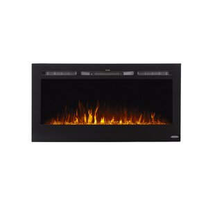 Annetta Sideline Recessed Wall Mounted Electric Fireplace by Ivy Bronx