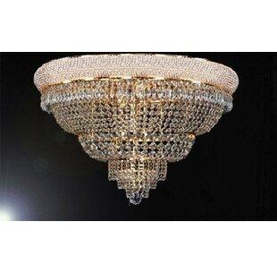 Astoria Grand Logsdon 21-Light Crystal Flush Mount