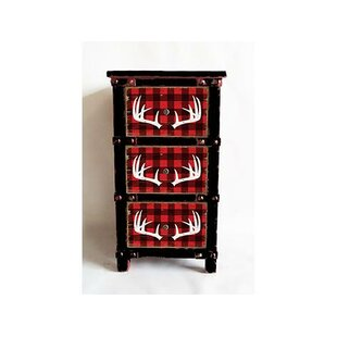 Kiro Reindeer Buffalo Plaid 3 Drawer Accent Chest by Millwood Pines