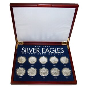 The Last Silver Eagles of the 20th Century Display Box By American Coin Treasures