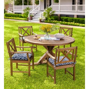 Claremont Eucalyptus Round Wooden Dining Table by Plow & Hearth Discount