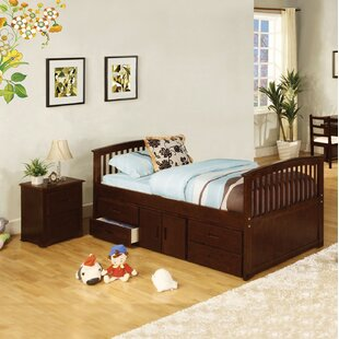 Clemson Twin Platform Bed with Storage