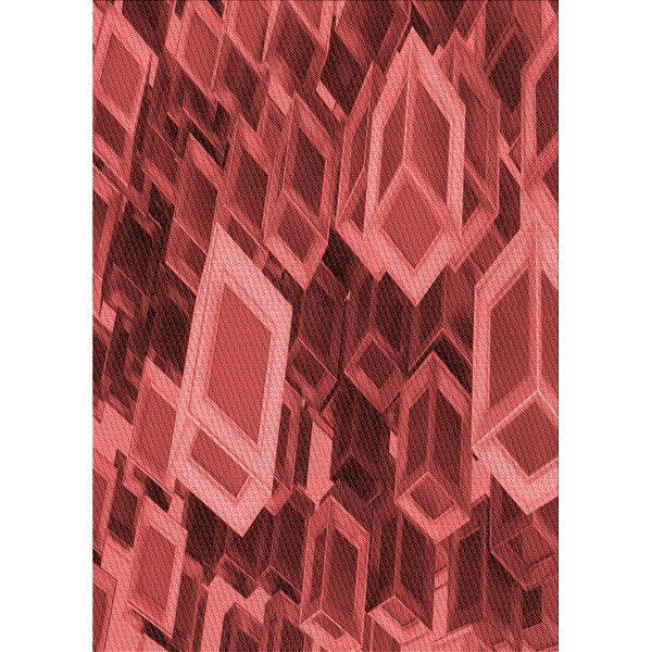 East Urban Home Puma Geometric Wool Red Area Rug Wayfair
