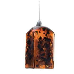 Metro Fusion The Rock Draped 1-Light Square/Rectangle Pendant by Meyda Tiffany