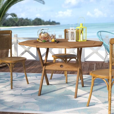 Elsmere Solid Wood Dining Table by Beachcrest Home Savings