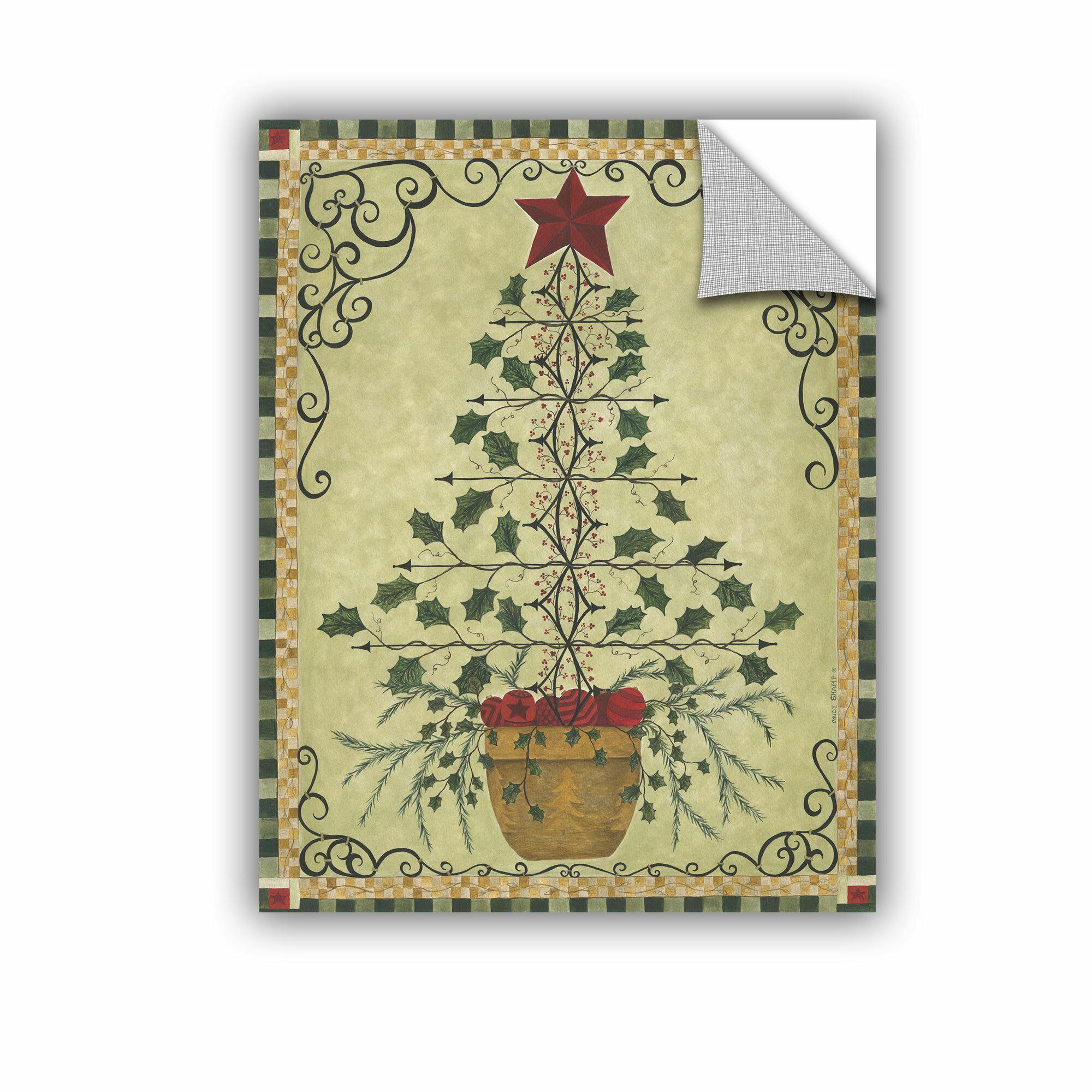 The Holiday Aisle \'Topiary Tree\' Graphic Art Print | Wayfair