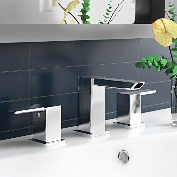 90 Degree Widespread Bathroom Faucet With Drain Assembly Reviews Allmodern